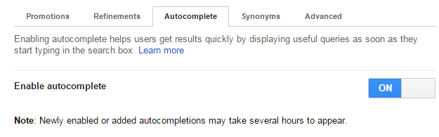 enabling auto-complete in Google search engine | 101helper
