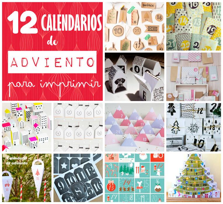 Recetas f ciles manualidades y diy 12 calendarios de - Calendario de adviento diy ...