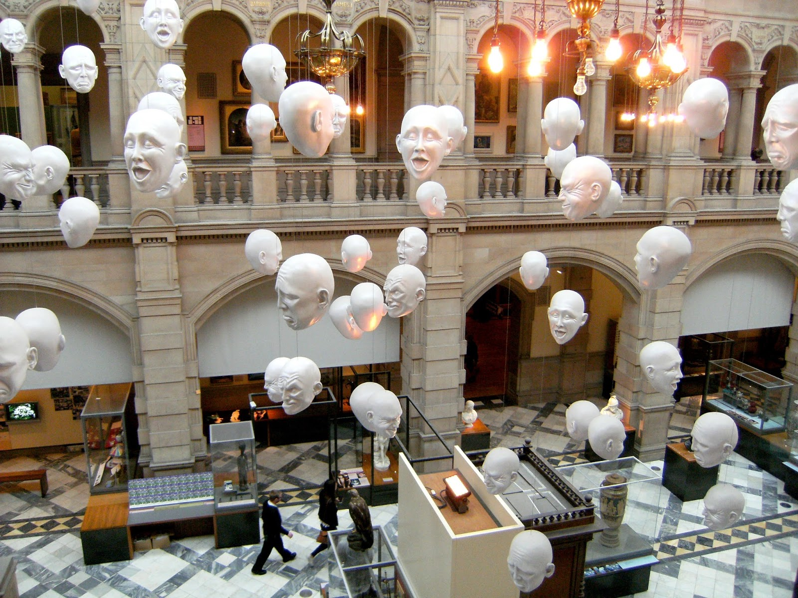 Kelvingrove Art Gallery and Museum Floating Heads