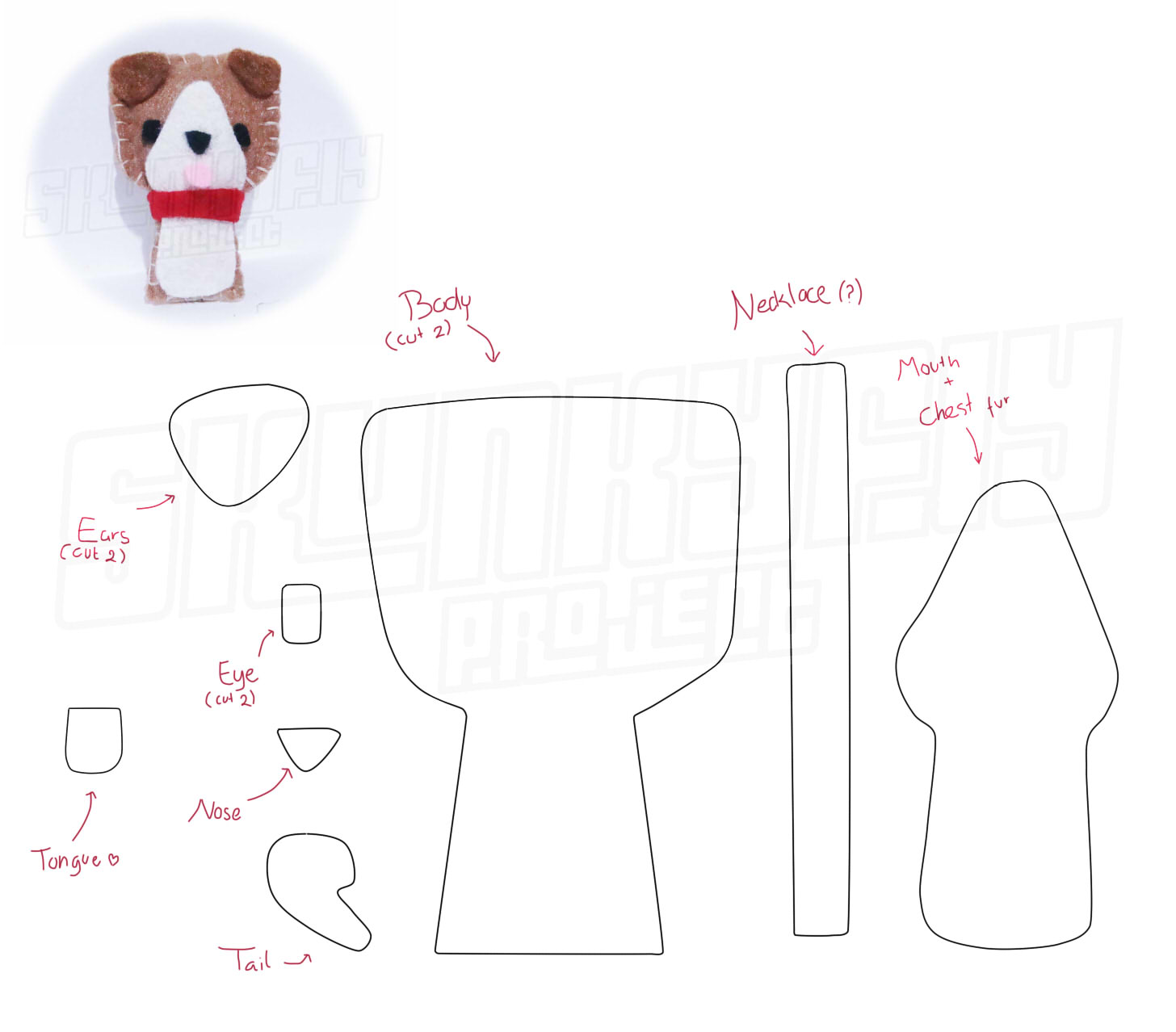 Gasa Geso Dunia Skunkfly: Pattern and tutorial of cute dog are arrived!