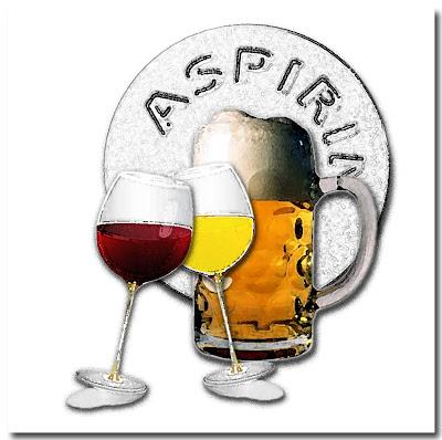 Birra vino bianco e vino rosso
