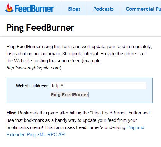 ping entri feedburner ping