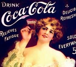 Propaganda da Coca-Cola com calendário para o ano de 1907.