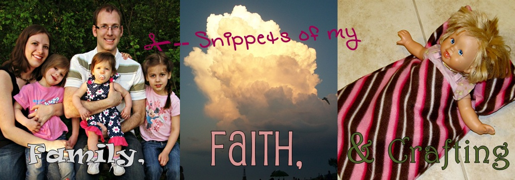 Snippets of My Family, Faith, and Crafting