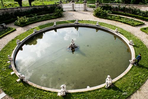 Immagine: fontana villa della Regina