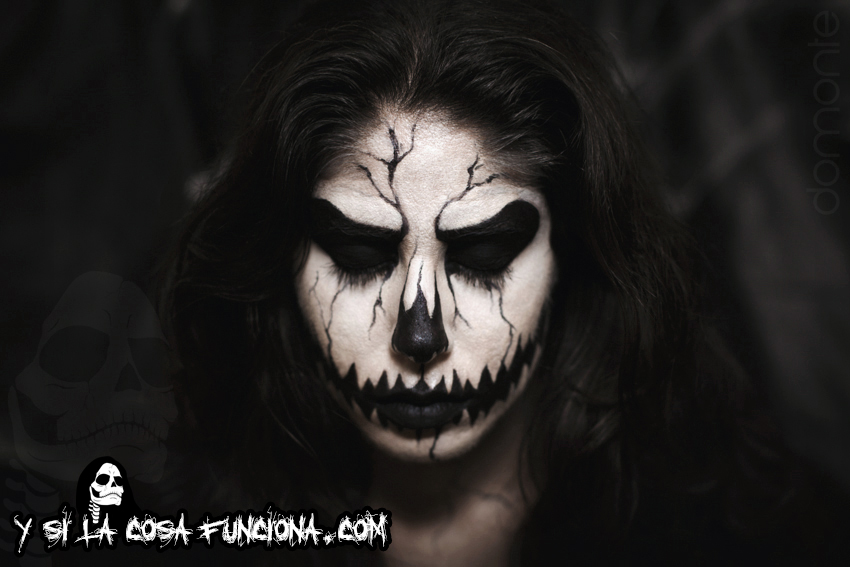 Pumpkin King Make Up Black White Girl