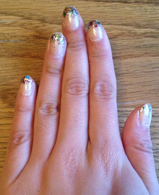 glitter gradient nails, gradient nail art, christmas nail art, opi kardashian kolor, rainbow in the s-kylie, swatch, nail blog, paul and joe nail polish, o.p.i., seche vite, seche base, gel top coat, best top coat, glitter polish, glitter top coat, glitter nail varnish