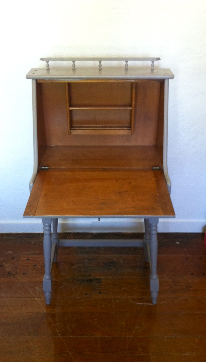 Antique Drop Down Writing Desk Viewing Gallery
