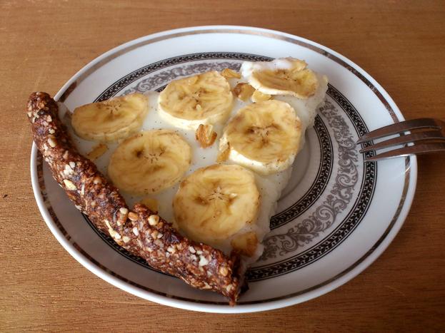 Zdrowa tarta bananowa