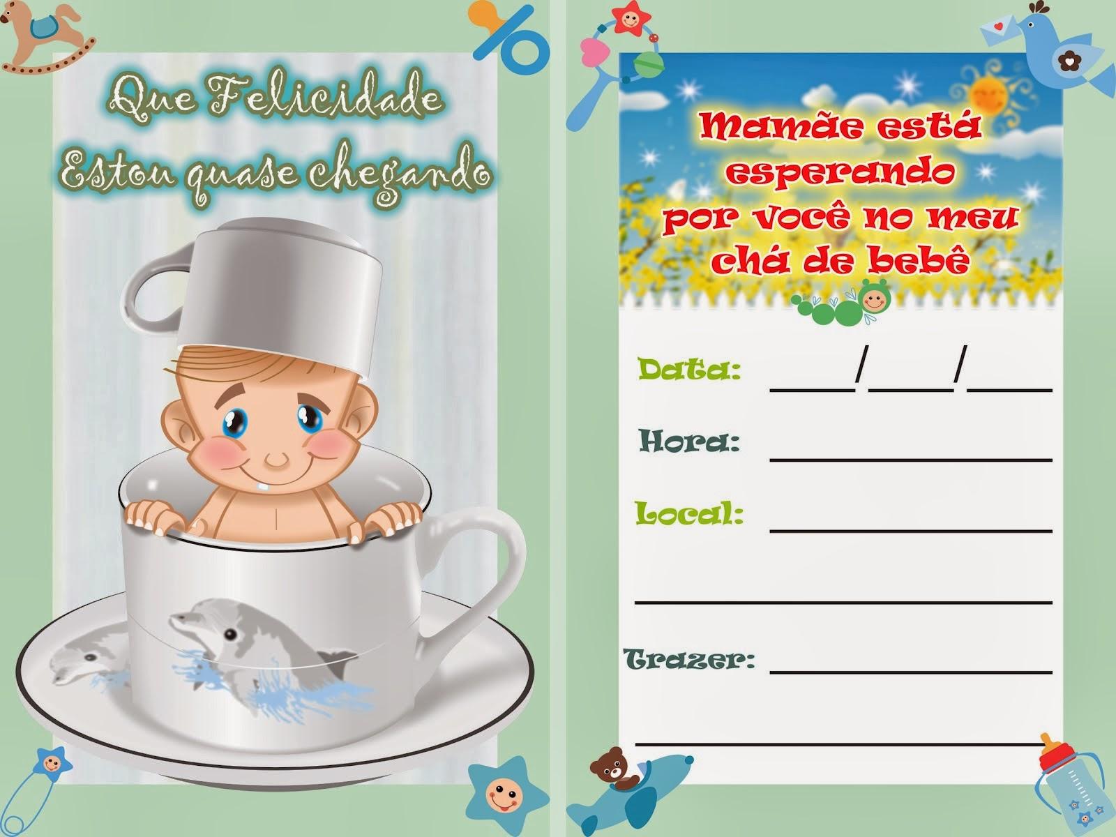 Convites para chá de bebê de menino 4