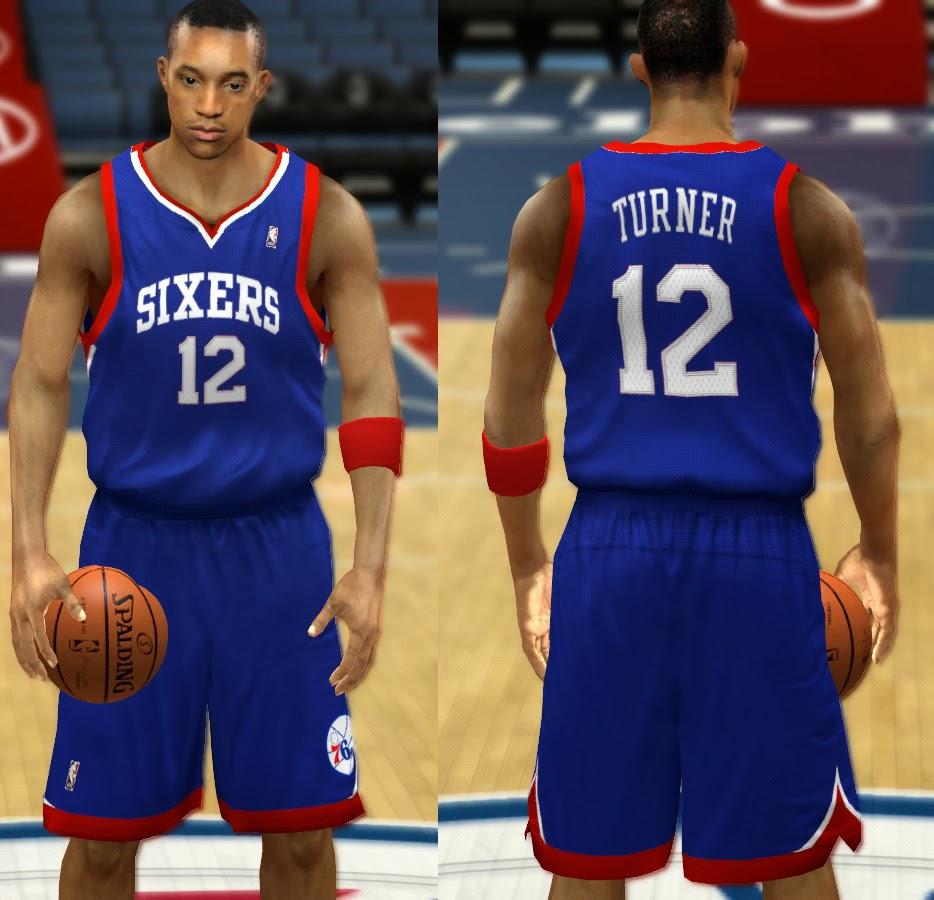 NBA 2K14 Philadelphia 76ers Jersey Mod Pack