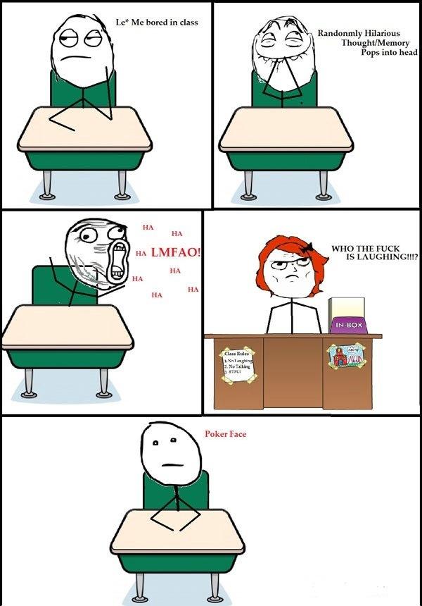 Me Bored In Class - Comic Meme
