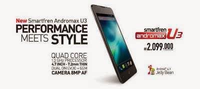 Harga Smartfren Andromax U3 Terbaru