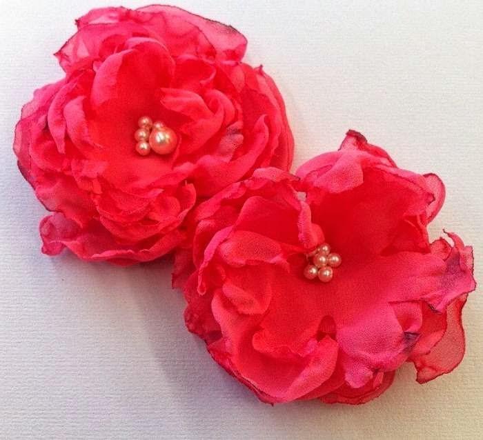Цветы своими руками мастер класс шифон 641