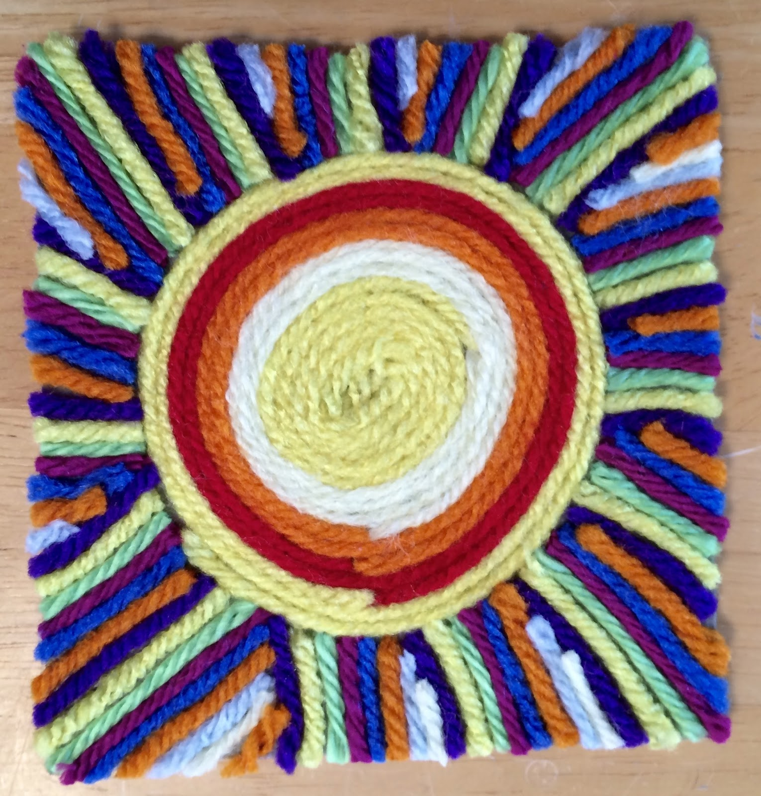 Design Yarn Art kathys angelnik designs art project ideas mexican sun huichol yarn painting lesson