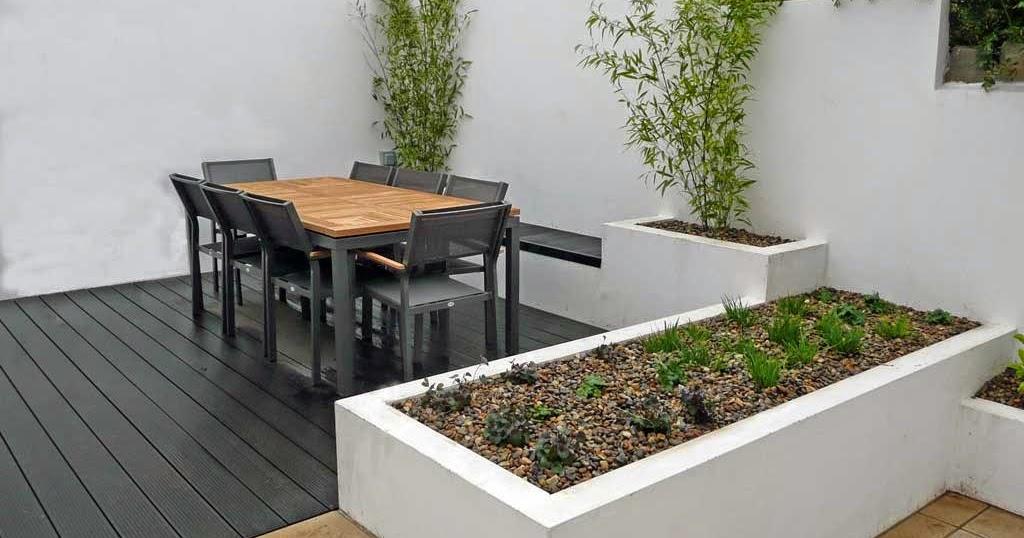 Narrow house garden design with a minimalist style garden house design ideas - Small narrow house plans minimalist ...