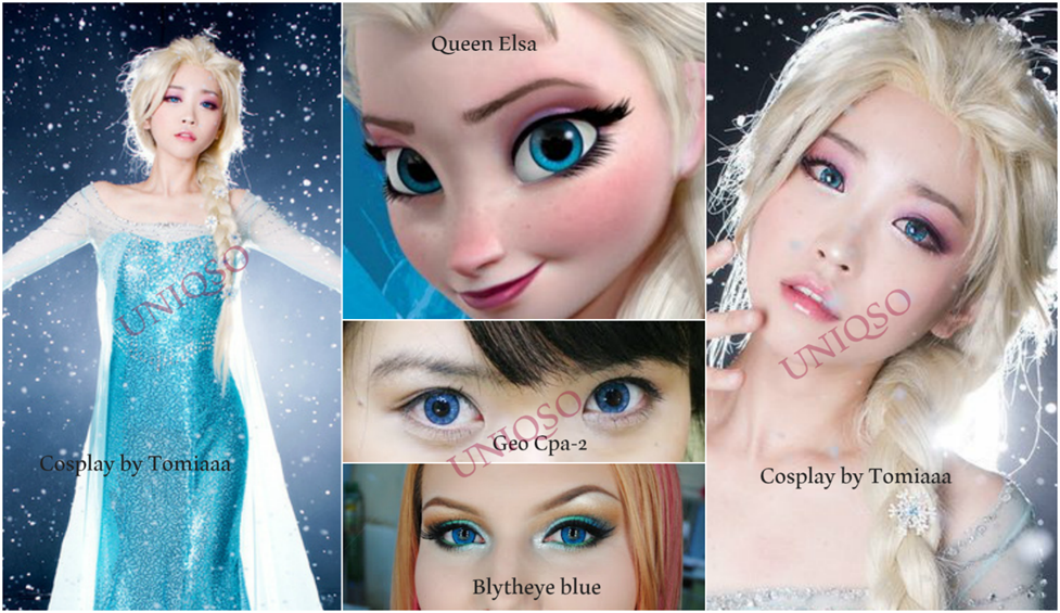 Queen Elsa Cosplay Contact Lenses: Elsa Circle Lenses from Frozen