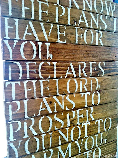 Scripture Wood Sign