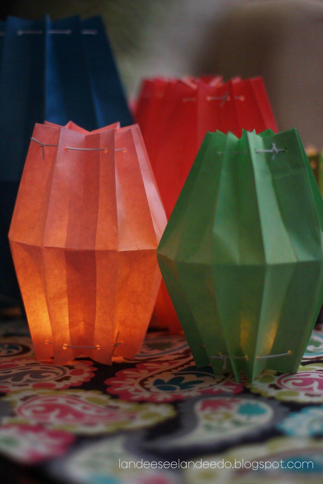 Как сделать фонарик из бумаги китайски