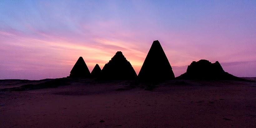 Napatan pyramids. Kerima, Sudan.