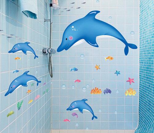 Hoặc cách trang trí phòng tắm