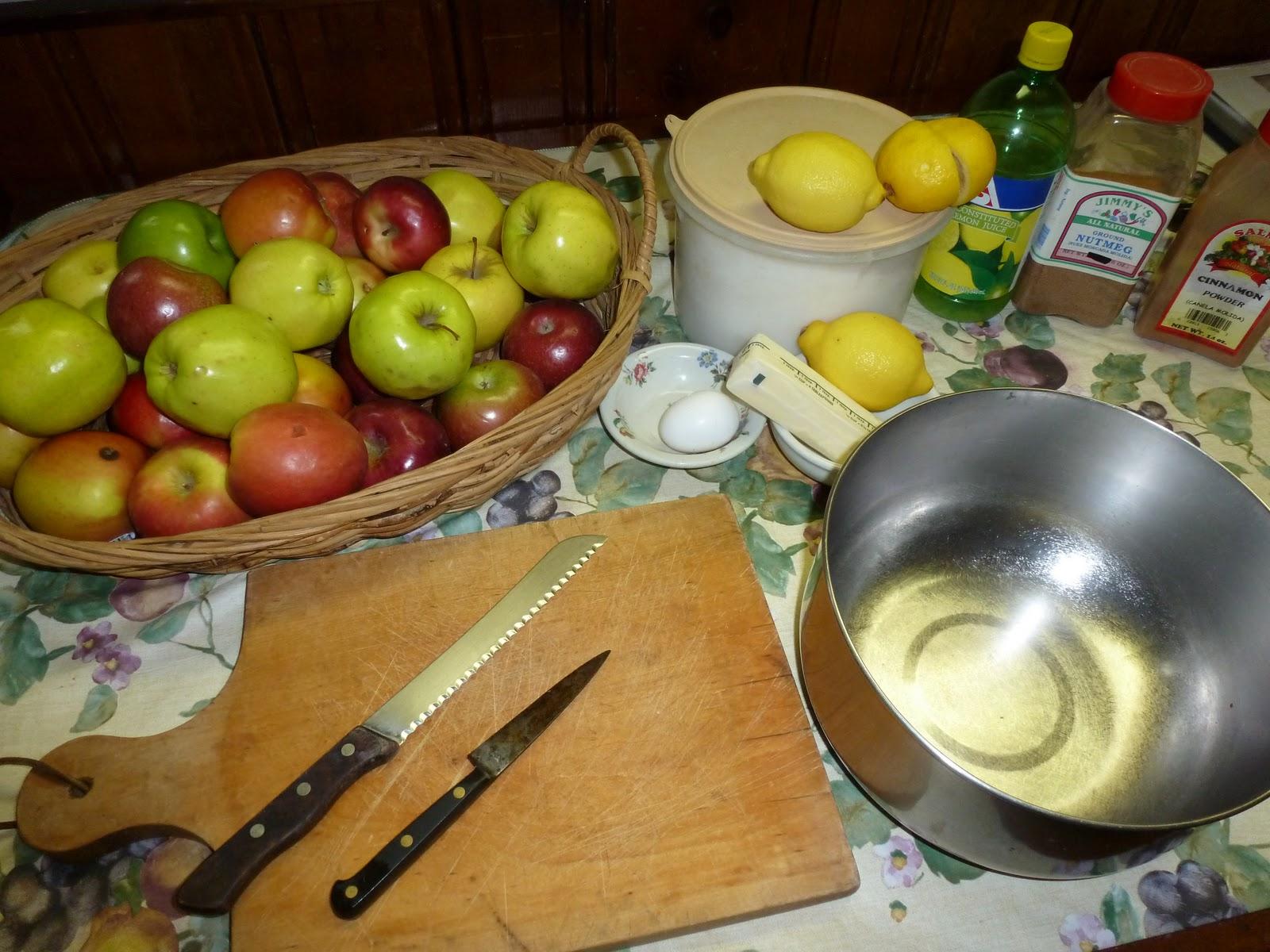 Making apple pie by david white