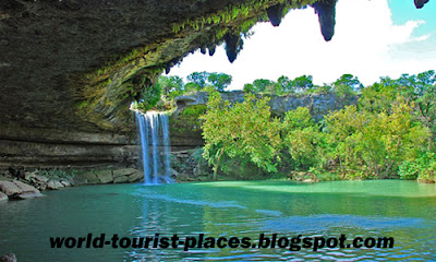 Tour of Hamilton Pool, Texas, USA
