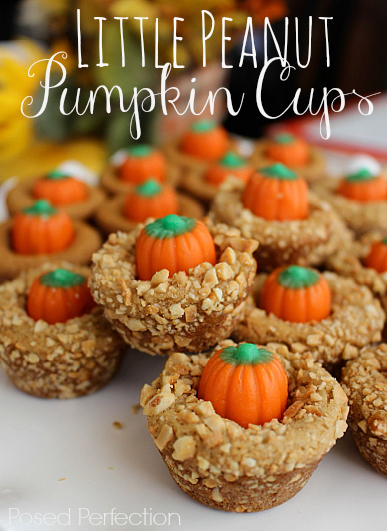 These Little Peanut Pumpkin Cups are going to be the cutest thing on your dessert table this fall!  Just 3 ingredients!