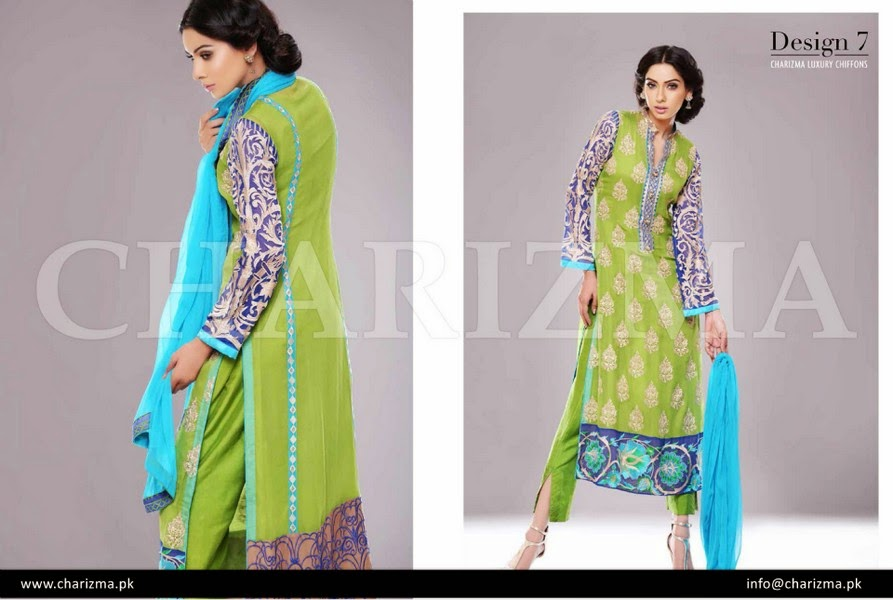 Charizma Eid Chiffon Collection 2014