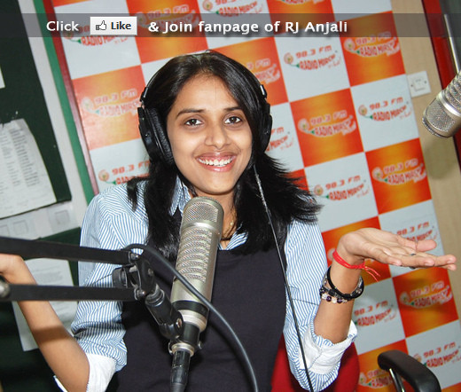 RJ Anjali 98.3 FM Radio Mirchi (Patna) Visit Facebook Page http://www.facebook.com/RJ.Anjali
