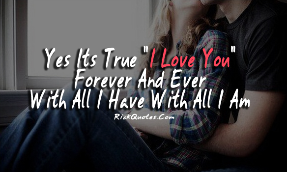 i love you quotes forever and ever