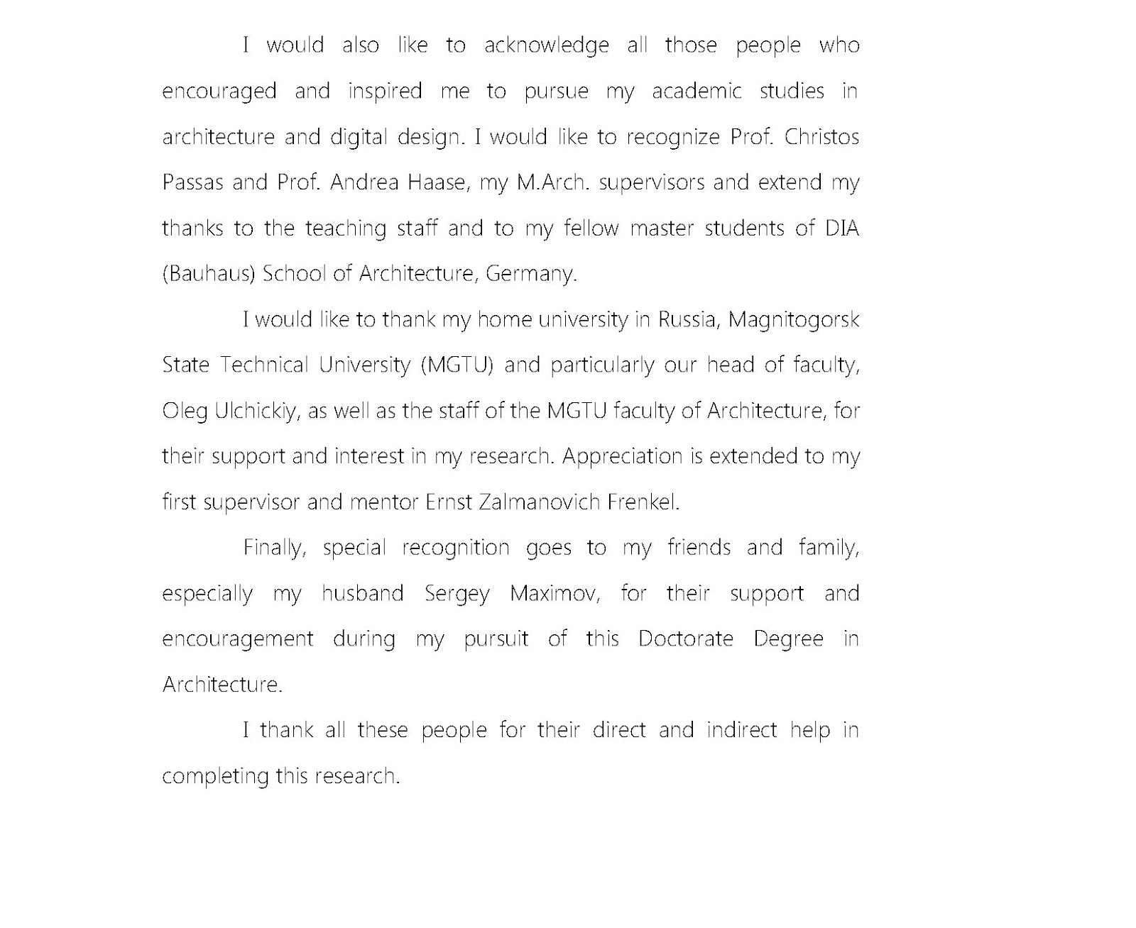 Acknowledgement Dissertation Who Encouraged