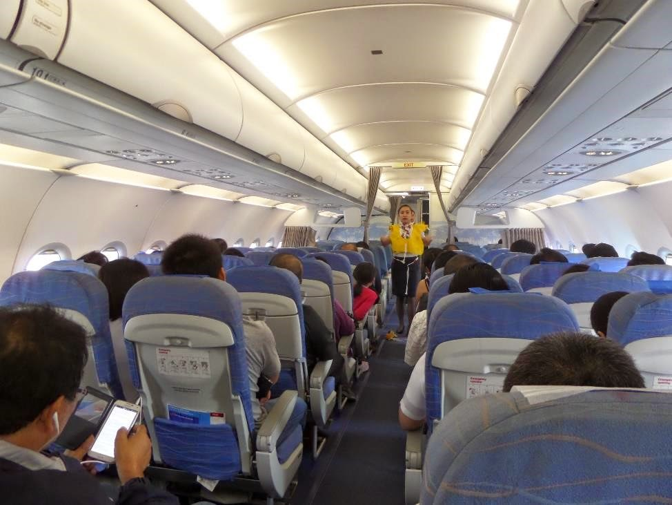 pal express a320 cabin