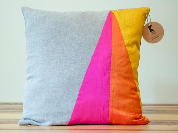 geometric pillow, design