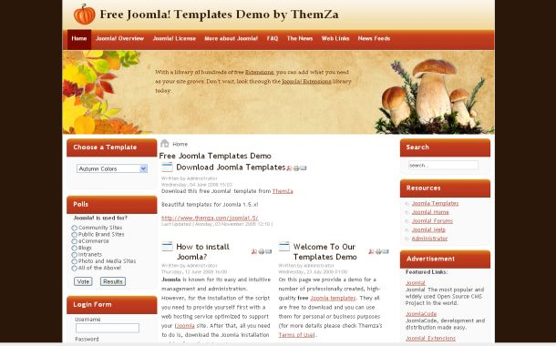 Brown Joomla Templates Free Joomla Sexy Merry Christmas Web2.0 Template