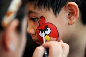 Pintar la cara hungry birds