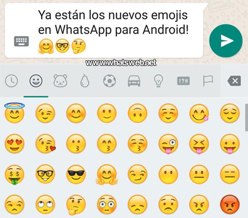 Nuevos emojis para WhatsApp en Android