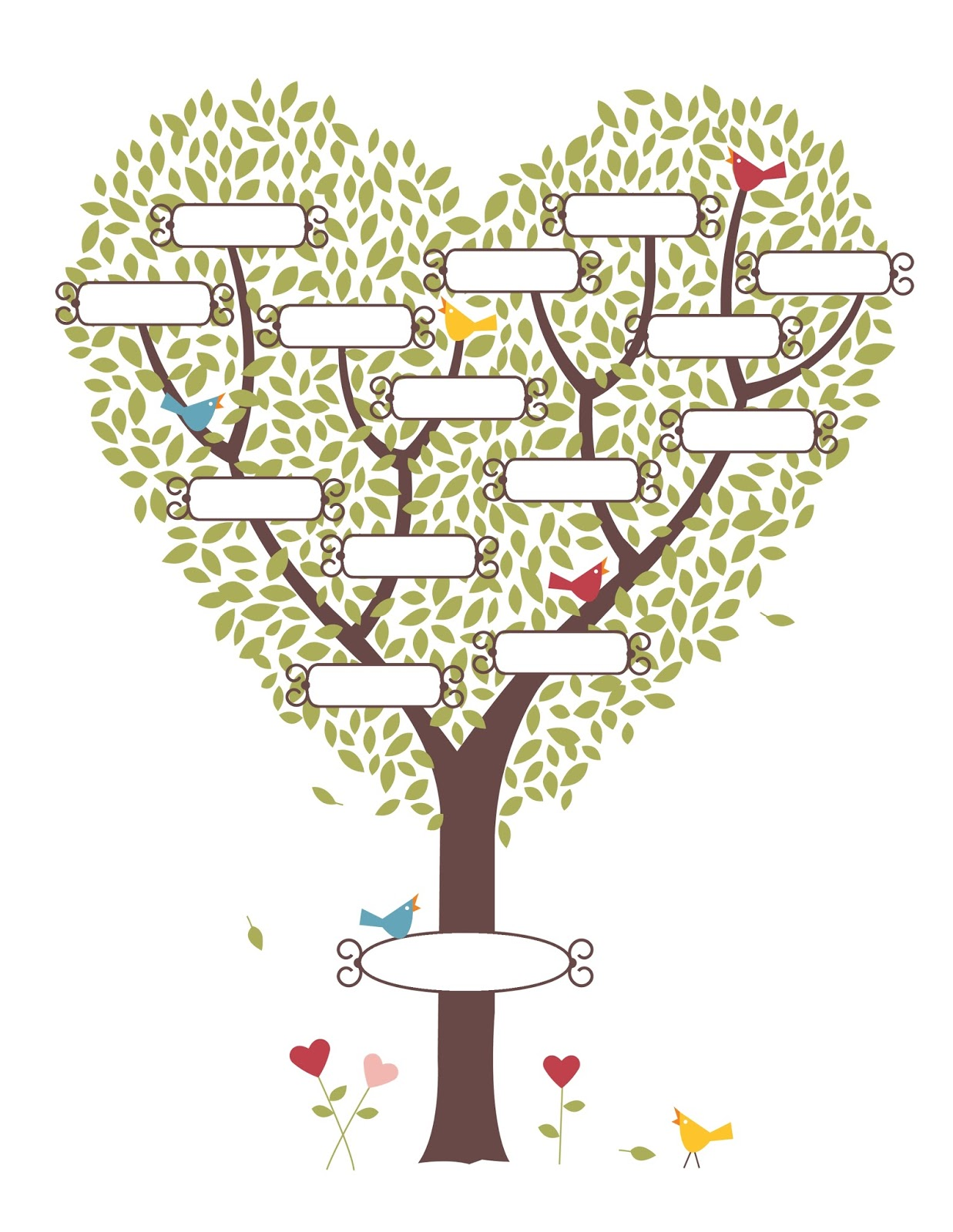 Beths Digital Cuts Family Tree Template
