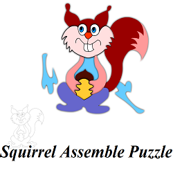 Squirrel Picture Puzzle Game