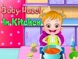 Baby Hazel en la cocina de mamá