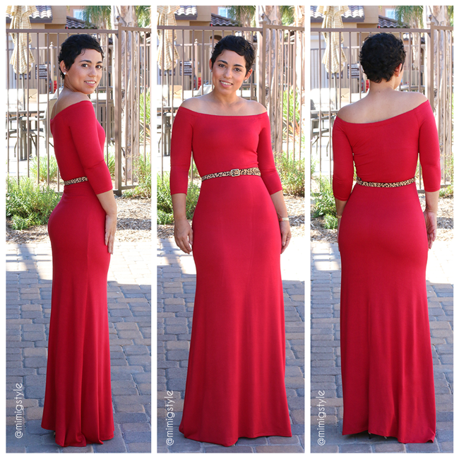 DIY Red Maxi Dress