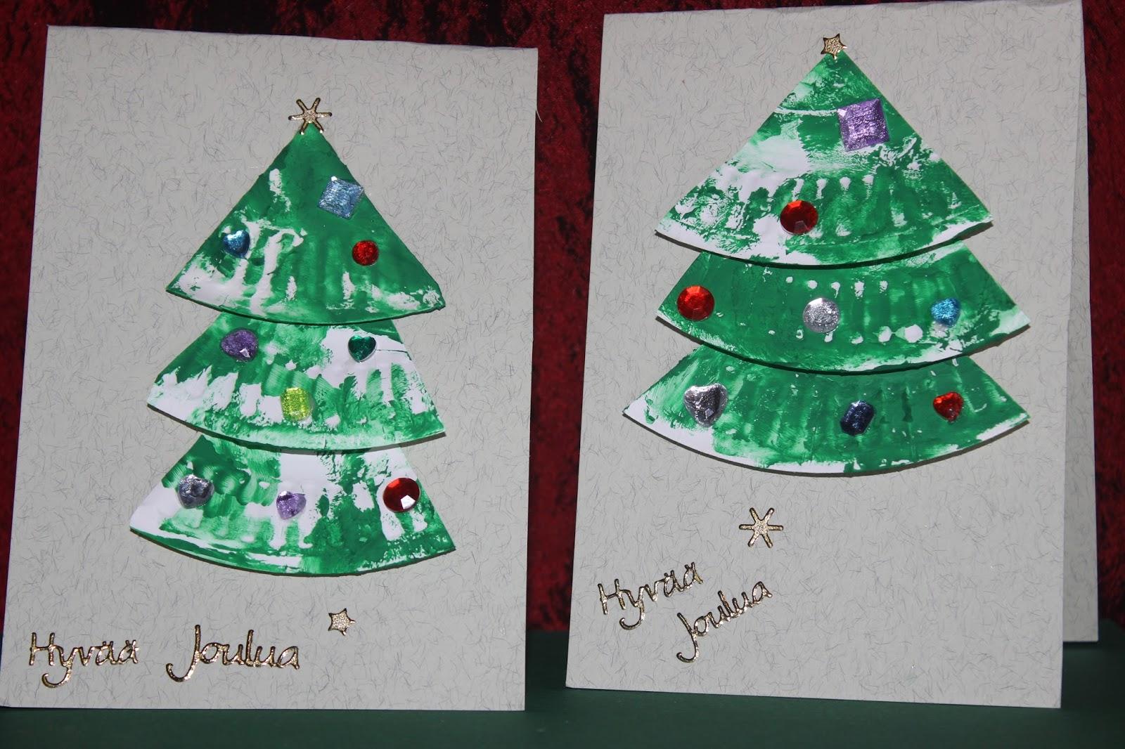 joulukortti askartelu Nappikuja 6: Luukku 4 : Joulukorttien askartelua joulukortti askartelu