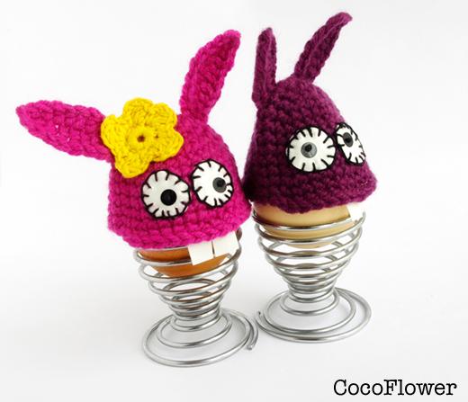 wool bunny egg warmer - bunny plush