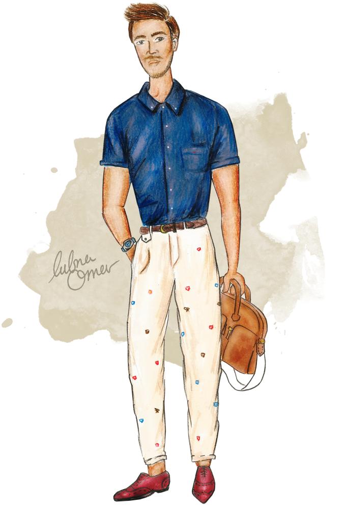 male fashion illustrations