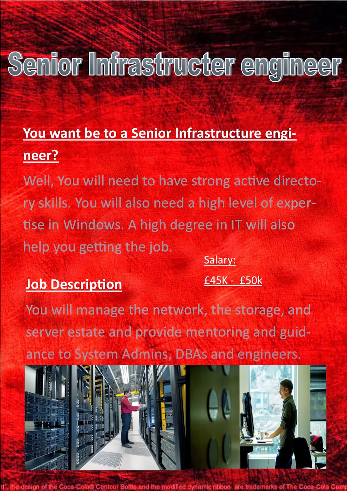 Poster design job description - This Is The Second Poster I Have Designed This Poster Is All About Teaching It It Again Includes The Requirements For The Job The Job Description And