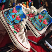 DAL. Diego Lemos. Tenis. Customizados. Personalizados. Hibiscos. Flores. Sao Paulo.