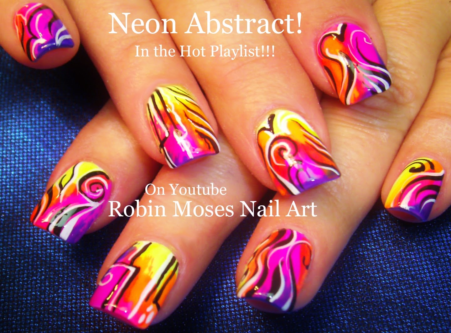 Nail Art by Robin Moses: Super fun and trendy NEON bright nail ...