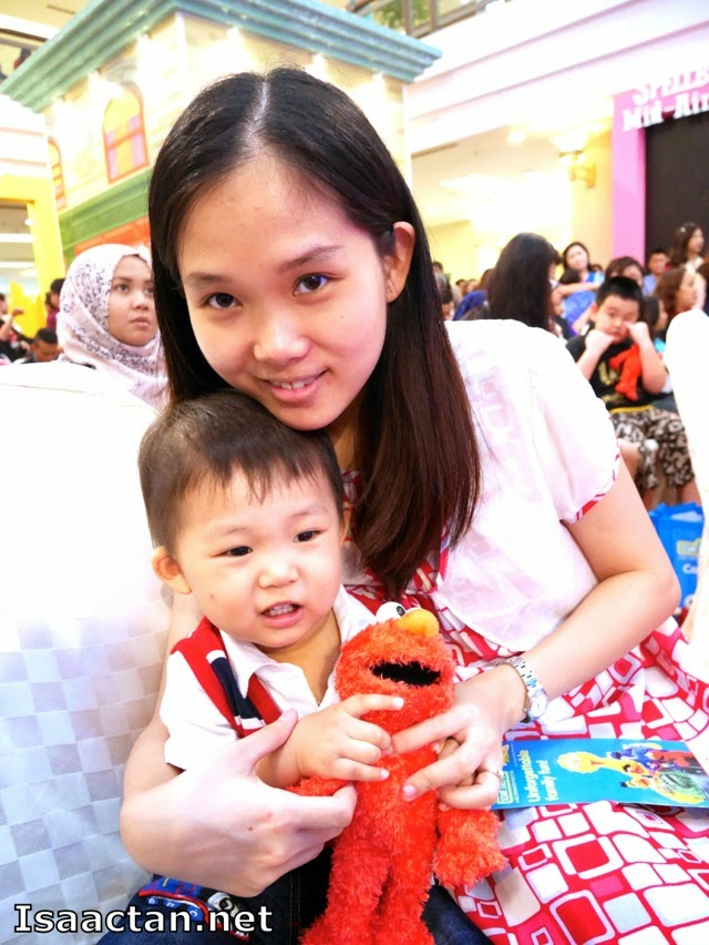 Martin enjoyed the event, with his new plush toy Elmo