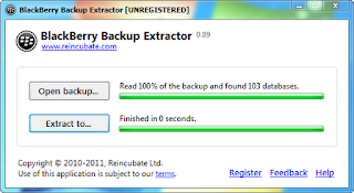 BlackBerry Backup Extractor: Recover Lost BlackBerry emails, Contacts, Calendar Events, SMS , Notes