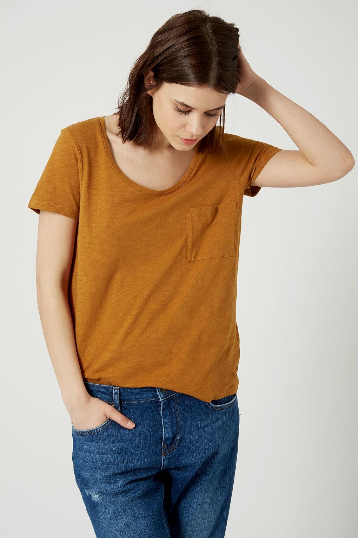 topshop mustard tshirt, mustard loose top,
